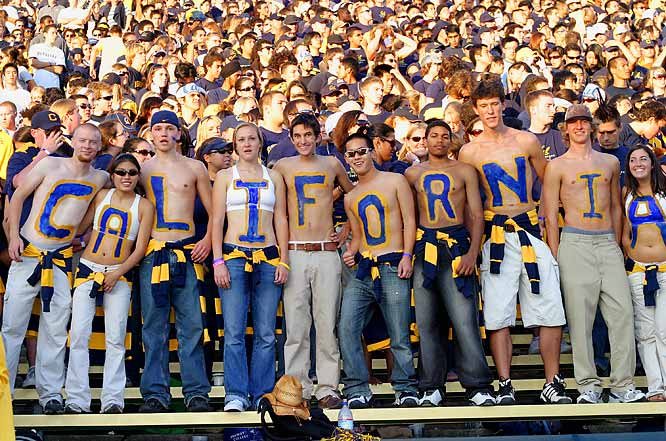 Cal fans strike a pose during last October's game against Oregon.