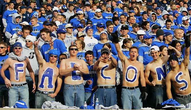Air Force fans came out in full force for the Falcons game against Notre Dame last November.