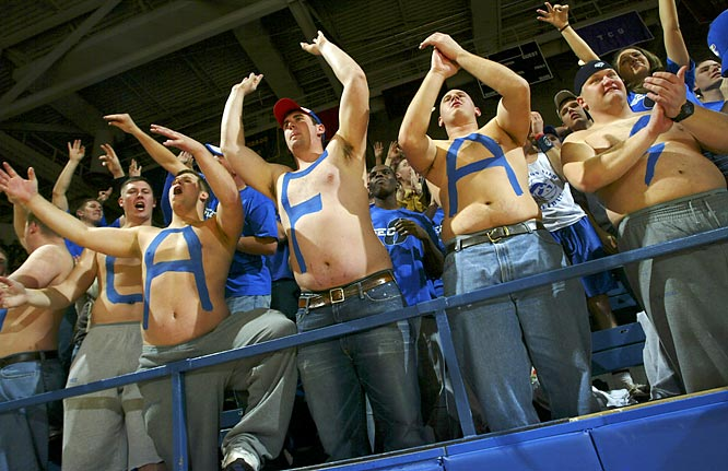 These Air Force fans skipped a trip to the gym to  attend this game against New Mexico last January.