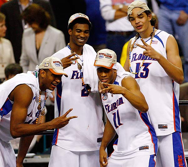 "Corey Brewer, Taurean Green, Al Horford and Joakim Noah, the self-dubbed ""Oh-Fours"" (for the year they were recruited to Florida), shared more than just a dormitory room in Gainesville. On their way to winning back-to-back national championships, the quartet won 18-straight conference/NCAA tournament games, the longest since UCLA won 28 straight from 1967-73."