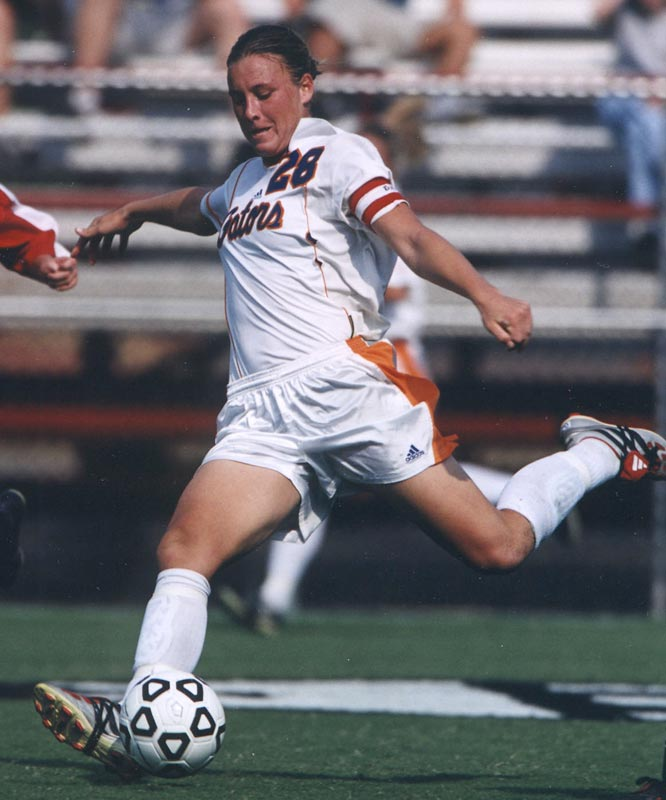 Before she was taken with the second pick in the 2002 WUSA draft, Wambach was an All-SEC player for four seasons at Florida. She was conference Player of the Year twice and led the Gators to the NCAA Final Four in 2001. Wambach set Florida records for goals (96), assists (49), points (241), game-winning goals (24) and hat tricks (10).