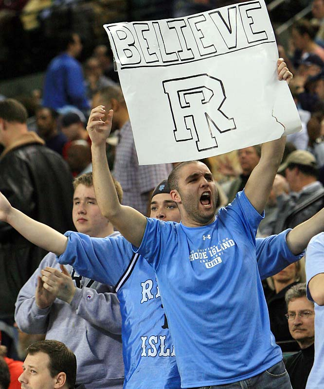 The faith of these fans wasn't enough to push the University of Rhode Island past George Washington when the two teams faced off during the first round of the Atlantic 10 Tournament.