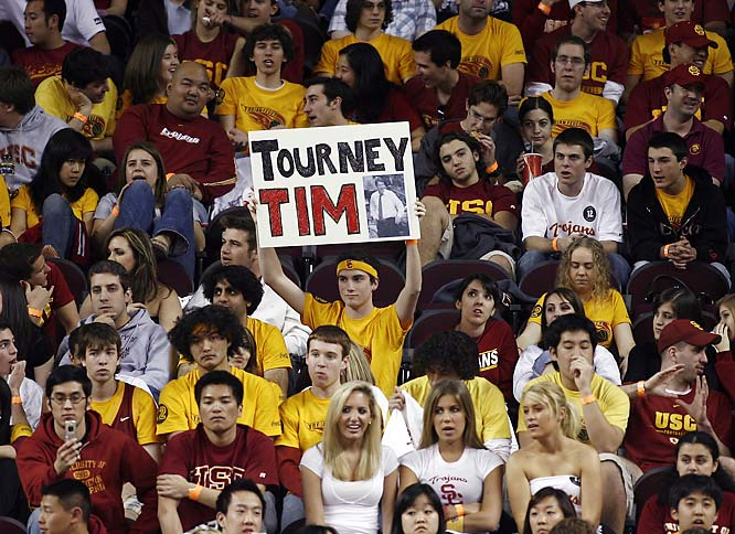 USC fans throw their support behind coach Tim Floyd, who led the Trojans to the Sweet 16 for the first time since 2001.