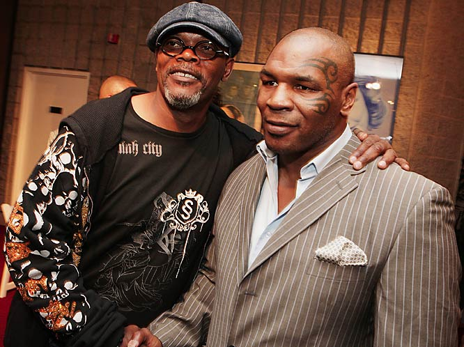 Samuel L. Jackson is one of the few people who isn't afraid to get up close with Mike Tyson.