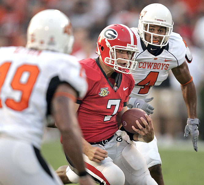 Quarterback Matthew Stafford was 18-of-24 for 234 yards and two second-half touchdowns as the Bulldogs dumped the Cowboys Between the Hedges.