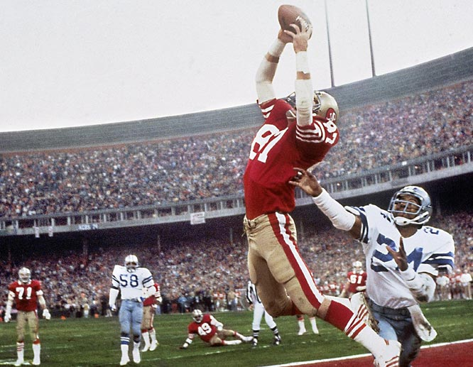 Walter's take: ''I followed Dallas all year, so I was heartbroken when the 49ers' Dwight Clark made that catch. I'd covered every game, been in the locker room with Dallas, and gotten access that no other photographer had. I didn't know the significance of this photo when I took it. I didn't even know I'd gotten it. But The Catch has become quite famous over the years, so the picture has too. It was the start of a hell of an era for the 49ers. So I'm pretty happy with the photo now.''   Shot with: Canon F1, EF 50mm