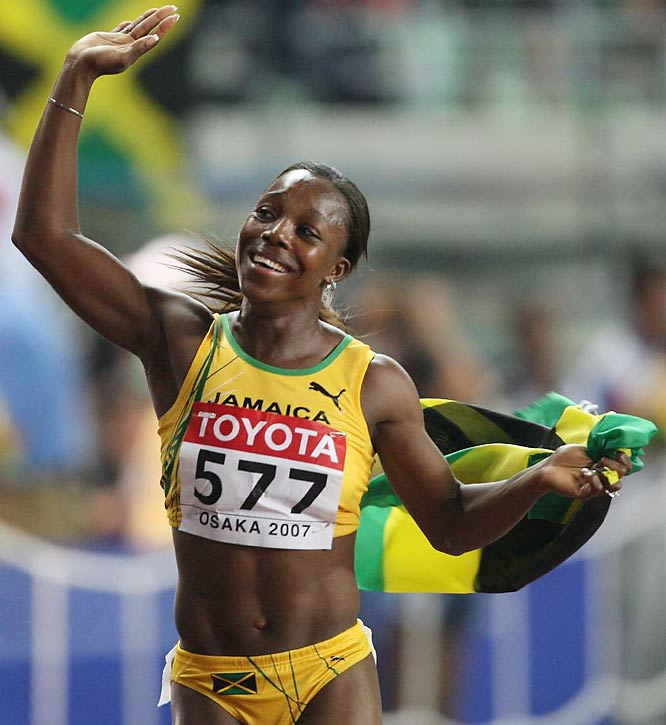 Veronica Campbell won the women's 100 on Day 3.