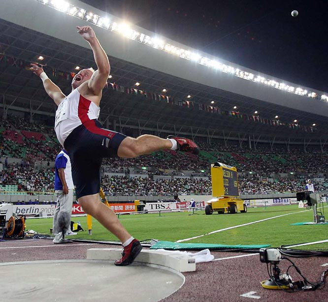 Adam Nelson of the U.S. won the silver in the shot put.