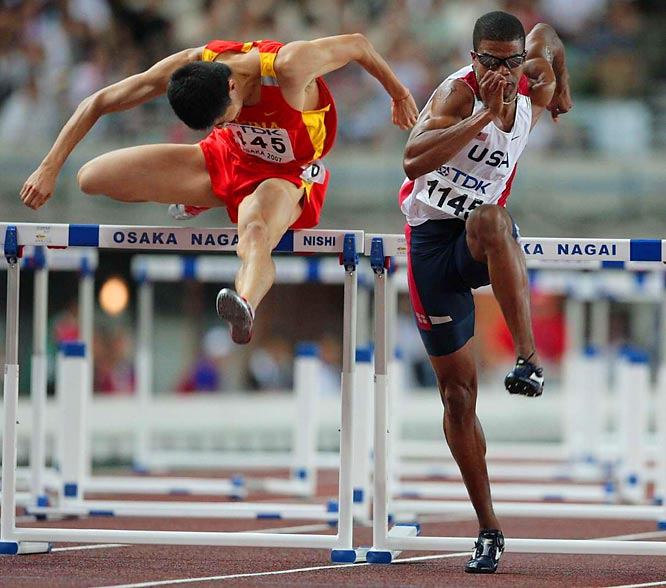 Lui pulled away from American Terrence Trammel over the last two hurdles and Trammel (1145) settled for the silver.