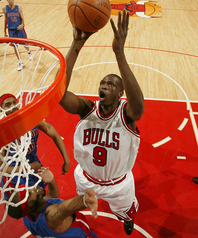 Deng has improved steadily in each of his first three seasons. The lanky forward impressed in 2006-07 by ranking in the top 30 in scoring, rebounding and field goal percentage, and he burst onto the national scene with a huge performance in the Bulls' first-round series victory over the Heat.