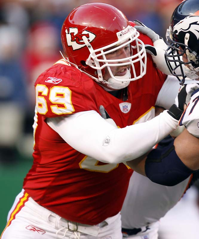 The Chiefs' best defensive player is suspended for the first two games of the season because of two DUI arrests. The suspension was lowered from four games -- a move from the NFL that surprised many. Allen has to stay out of trouble to prove Roger Goodell didn't make a huge mistake, and he has to play well because he'll be a free agent after the season. And oh ya, he's the key to the Chiefs' defense, which needs Allen to get the pass rush going.