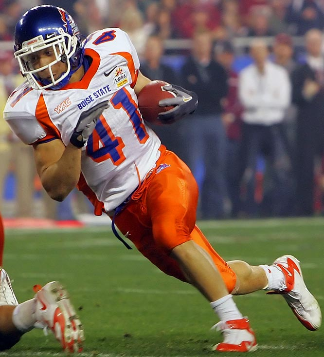 As the centerpiece of undefeated, Fiesta Bowl champion Boise State, Johnson led the nation with 25 rushing touchdowns. He averaged 6.2 yards per carry en route to 1,714 yards on the ground.