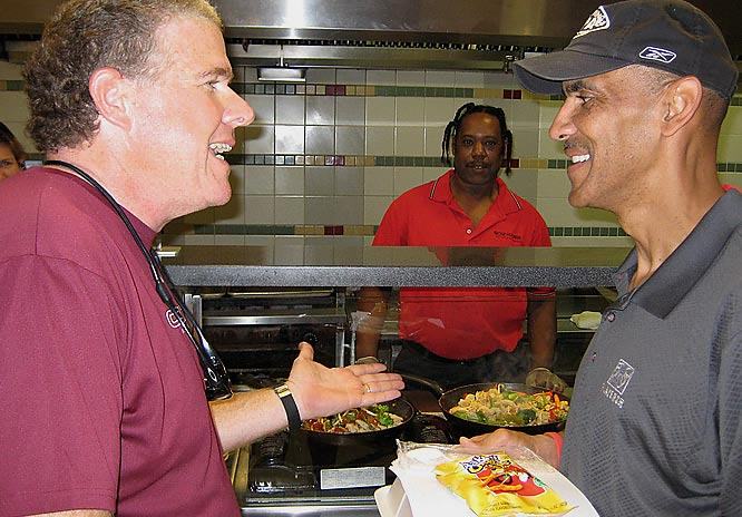 I took my camera with me for my annual training camp trip. Here are some of the people and sites I've seen across the NFL so far this summer.<br><br>Here I am in the stir fry line at Colts camp with head coach Tony Dungy at training camp in Terre Haute, Ind. The stir fry was excellent.