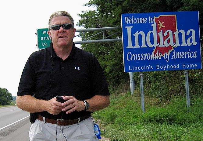 Going from Kentucky to Indiana on the way from Bengals camp to Colts camp.
