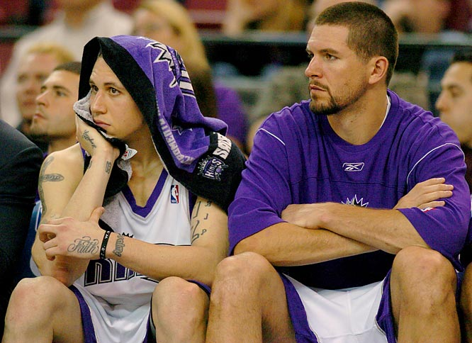 It's no coincidence that Bibby and Miller had subpar years during the Kings' worst season since 1998. While Bibby set career lows in shooting percentage (40.4) and assists (4.7), Miller struggled with a foot injury and wasn't the efficient offensive contributor Sacramento had come to rely on the previous three seasons. The Kings have a lot invested in turnarounds for both players: Bibby is owed $28 million over the next two seasons and Miller is on the books for $34.1 million over the next three.