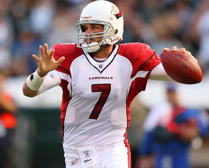 "Though he fell short of his 10-for-10 prediction to Cards coach Ken Whisenhunt prior to the game, the tabloid-friendly quarterback had to ""settle"" for a 7-of-7 outing for 70 yards and one touchdown against the Texans."
