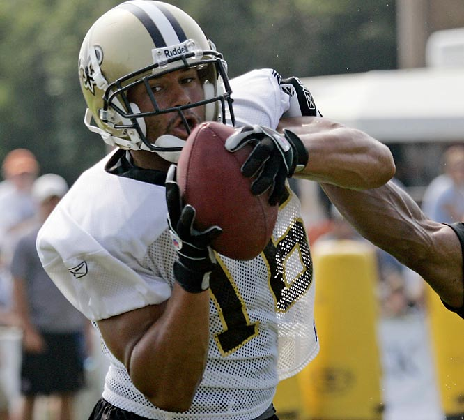 Is it possible the Saints unearthed a second hidden gem at wideout with Moore (along with Marques Colston), a 5-foot-9 blazer who has posted 13 catches (an NFL high) for 131 yards during the preseason, including eight receptions for first downs?