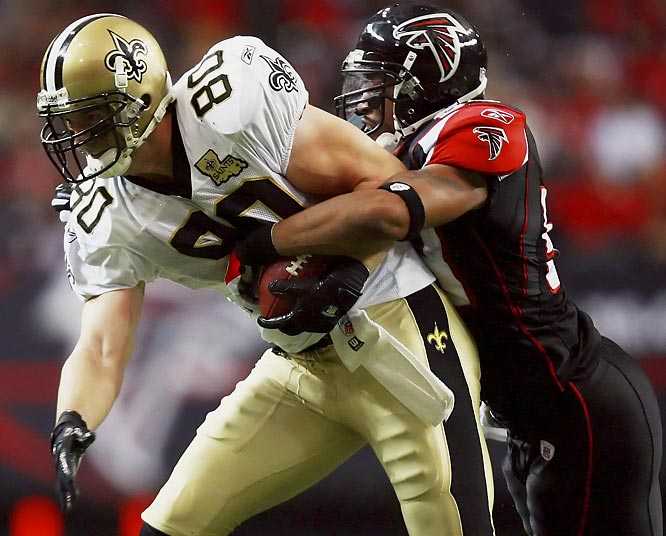 Tight end Mark Campbell and the Saints defeated the Falcons 31-13, despite playing without top receiver Marques Colston.