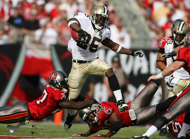 Reggie Bush wasn't at full strength because of a sore ankle, but the Saints had more than enough firepower to finish off the Buccaneers 31-14.