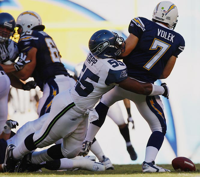 Tapp, a second-round pick in 2006, had just three sacks last season, but he posted two in a 24-16 win over the Chargers.