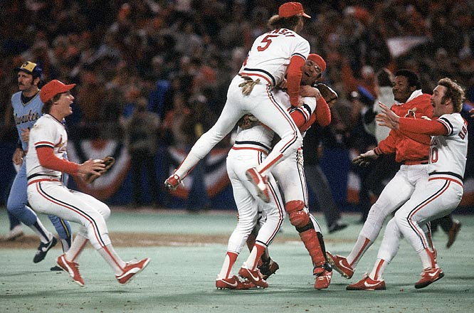 The Cards were stacked as Joaquin Andujar won Game 7 on Oct. 20, 1982, dealing St. Louis to a World Series championship over the Brewers. Andujar finished with a 2-0 record and 1.35 ERA in the Series. Bruce Sutter came on for the save in the final game.