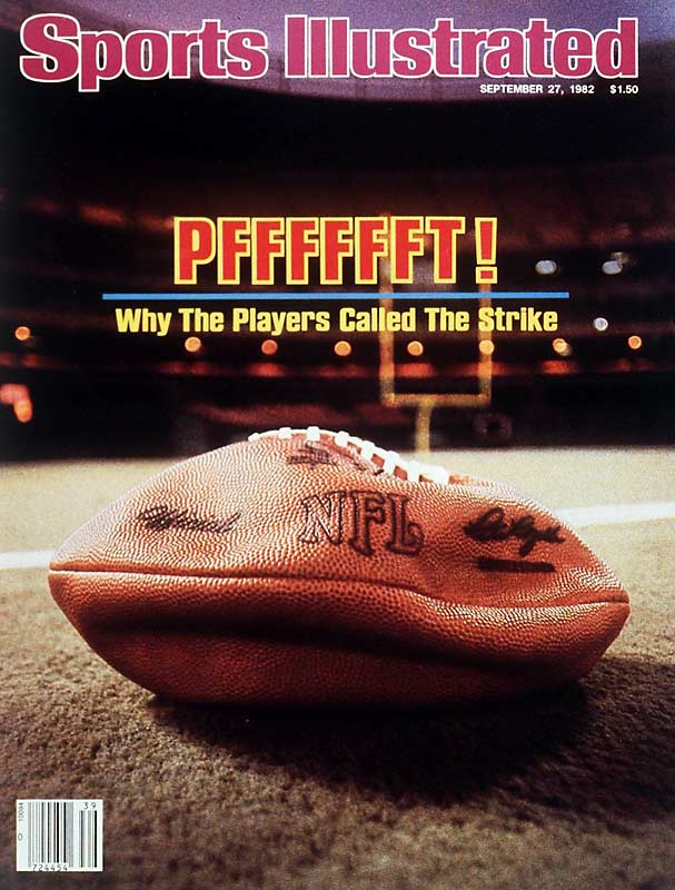 A 57-day strike by NFL players reduced the 1982 NFL regular season to nine games. The playoffs ended up being a 16-team format with division standings ignored. Among the benefits won by the NFL Players Association's negotiators: the right to obtain copies of all individual contracts.