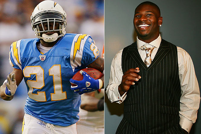 Afield, LT often wears the best unie ever: the Chargers' retro babyblue jerseys, white helmets, gold pants. Off it, the NFL's MVP and best player is one of its very best dressed.