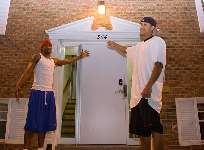 Welcome to the apartment of Brian Roberts and Andres Sandoval, two senior guards on the Dayton Flyers basketball team. Although UD is known for its student neighborhood (known as The Ghetto), B-Rob and Dre say living in an apartment keeps them out of trouble.