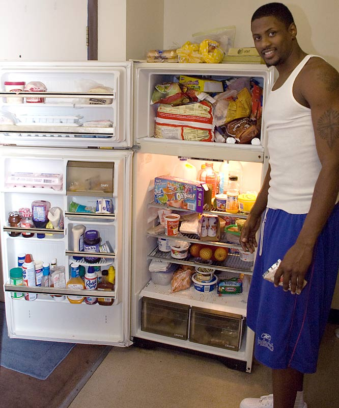 For two guys living in a four-person apartment, their fridge is usually pretty full - and healthy.