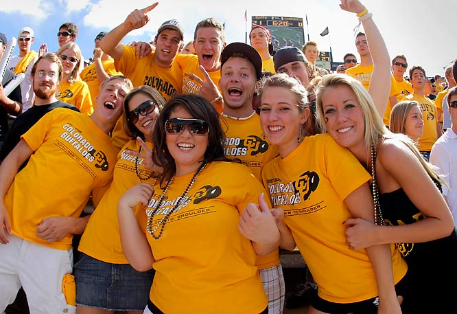 Colorado fans were all smiles after the Buffaloes' 42-0 whipping of Miami (Ohio).