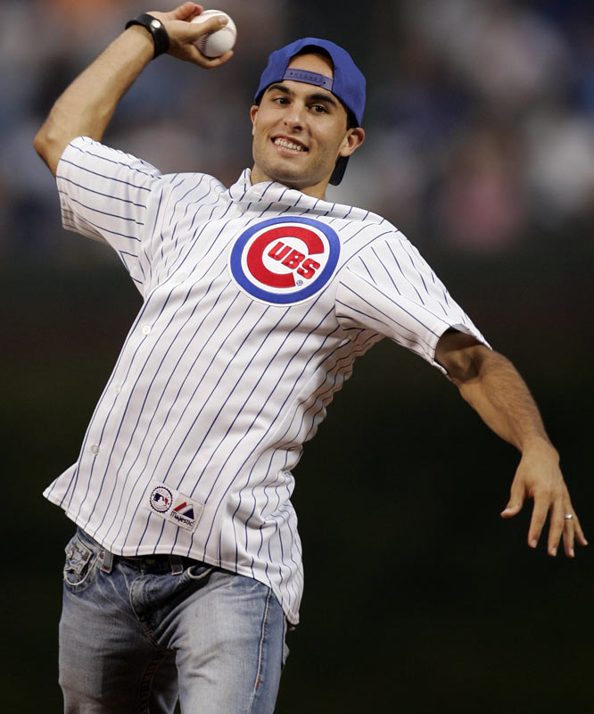 L.A. Galaxy star Landon Donovan threw out the first pitch at Wednesday's Cubs game. Wait, the Galaxy still exist, even though David Beckham is out with a knee injury?