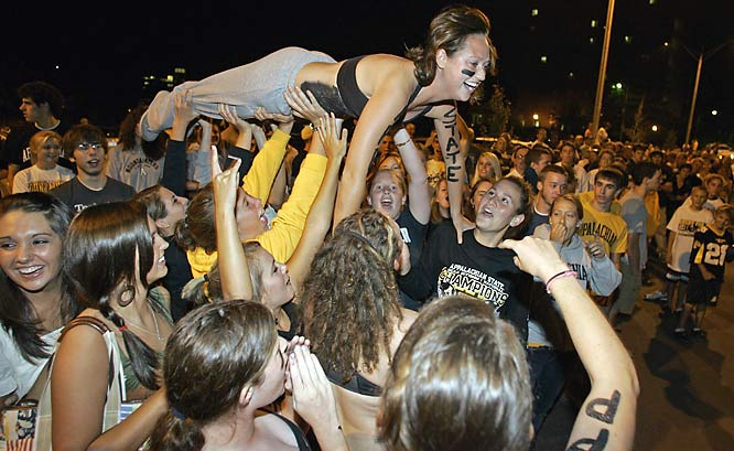 Appalachian State knows how to celebrate an upset victory!