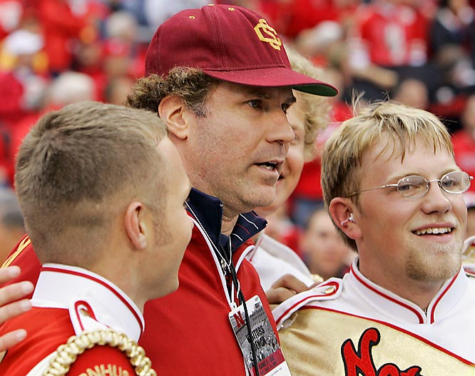 Will Ferrell should've busted out his old SNL cheerleader character while hanging with Nebraska's band last week.