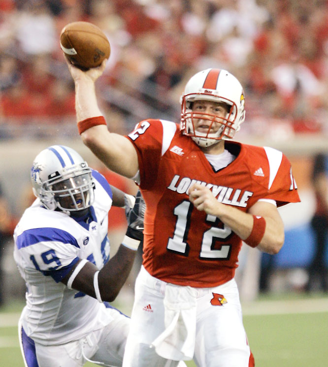 Louisville Brian Brohm torched MTSU for 401 yards and five touchdowns on Thursday night.