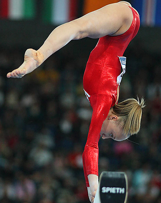 Then it got bad for the U.S.: Former world champion Anastasia Liukin had a near-flawless beam performance until her easy somersault-gone-wrong landing left her with an uncharacteristically low score of 15.175.