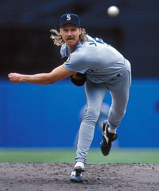 Randy Johnson was 5-0 with a 1.74 ERA in September 1995 for the Mariners, who won the AL West by one game over the Angels. Three years later, after a midseason trade to Houston, The Big Unit was clutch again, going 5-0 with a 1.48 ERA for the NL Central champion Astros.