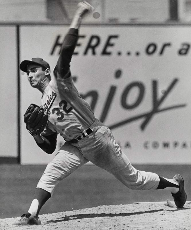 Sandy Koufax tossed a perfect game on Sept. 9, 1965, in Dodger Stadium, sparking L.A. to a season-ending 16-4 run during which Koufax notched five wins. The Dodgers won the pennant by two games and went on to topple the Twins in the World Series.