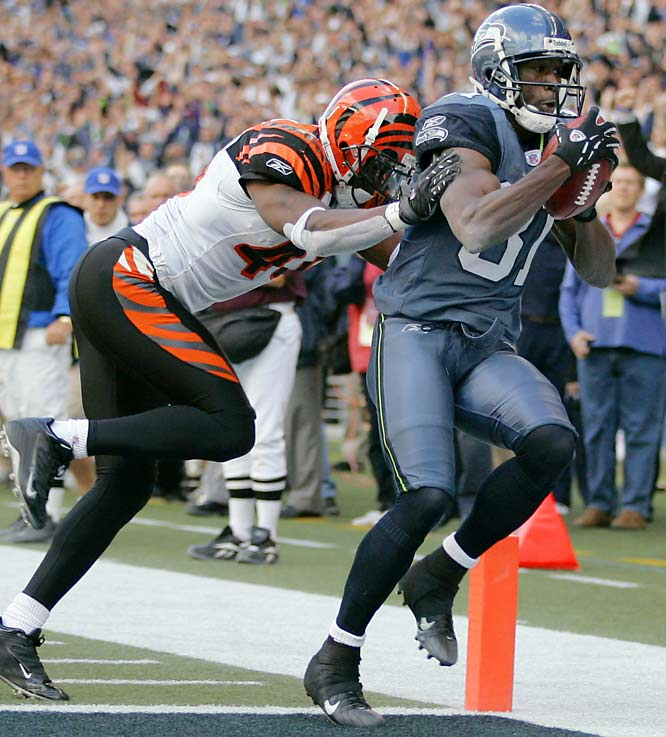 Nate Burleson catches a game-winning, 22-yard touchdown pass with one minute remaining. He finished with six catches for 76 yards in his best game since signing with the Seahawks before last season.