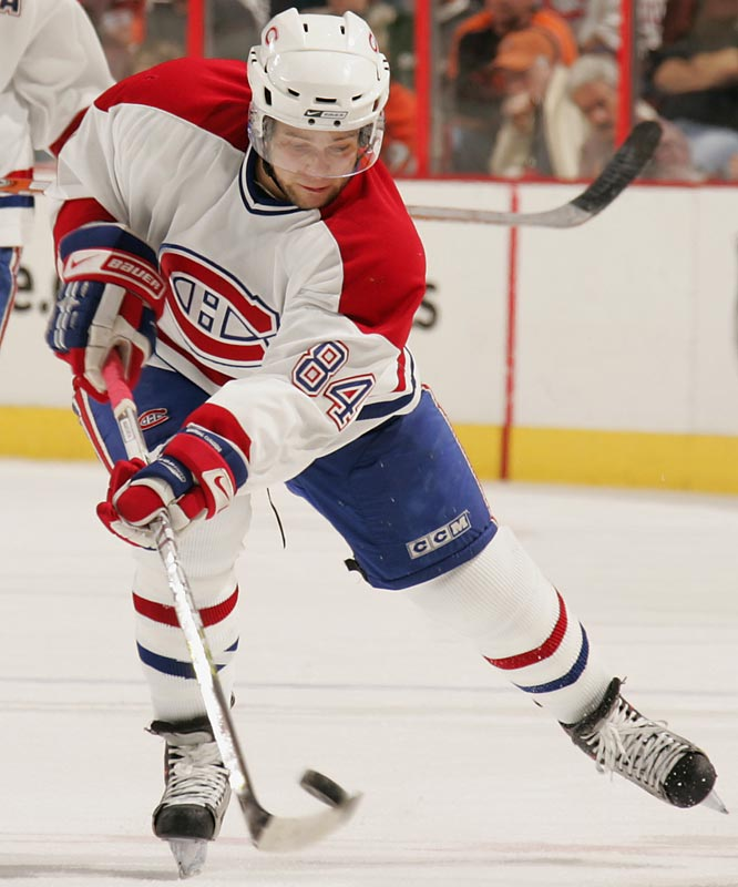 In a storied city that's having trouble luring topflight free agents, the hulking 20-year old Francophone will be a fan favorite and budding star. He scored 16 goals as a rookie last season and has the potential to provide the bulk of the Habs' offense along with more than few crushing hits.