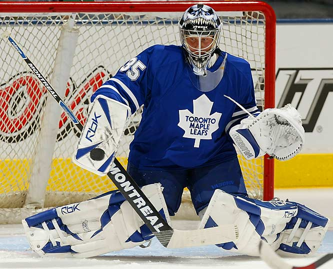 The Leafs may have finally solidified their shaky net situation with the acquisition of San Jose's reliable 1-A, who's coming off two 23-plus-win, sub-2.60 GAA seasons in a rotation with Evgeni Nabokov. If Toskala's the real deal as a full-time starter, the Leafs will take a big step back to the playoffs.