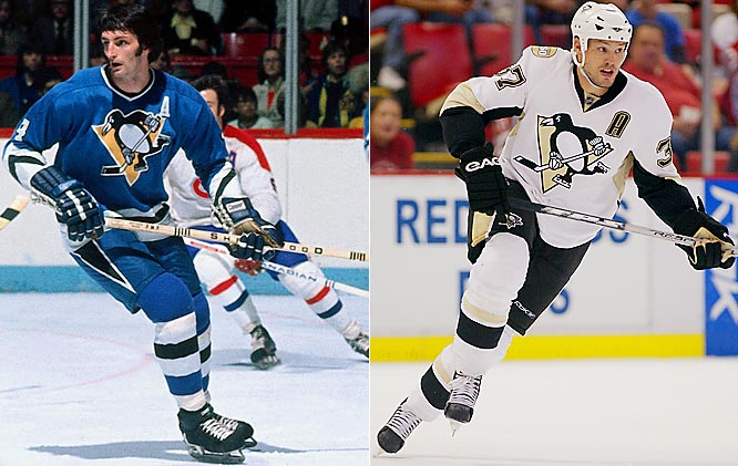 Best known for their black and gold scheme of the Mario Lemieux years, the Penguins wore blue for their first 12 seasons after the NHL expanded in 1967-68. Their new uniform bears their 21st century black and white with the original skating penguin crest that was dropped during much of the `90s.