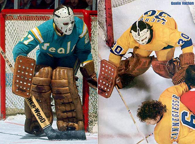The first expansion era of the '60s and '70s brought unusual sights, such as the California/Oakland Golden Seals and Los Angeles Kings, who wore all-yellow home jerseys instead of the traditional base white. The early '70s also saw the introduction of players' names onto the backs of sweaters.
