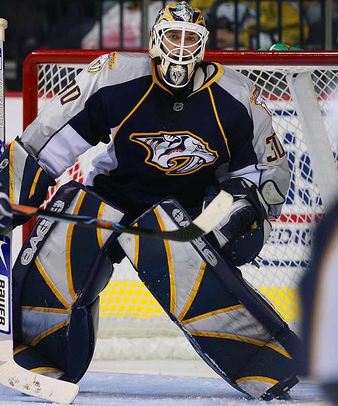 Tomas Vokoun's departure opened the door for the 31-year-old, who has a 36-16, 2.30 GAA record during the past two seasons. With the Preds' trying to draw 14,000 fans per game to ensure their future in Nashville, Mason becomes even more important now that Peter Forsberg,  Paul Kariya and other key players from last season are gone.