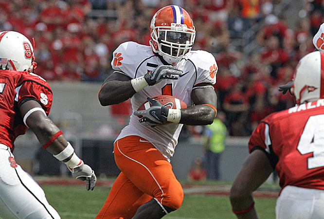 James Davis had a season-high 166 yards with a 3-yard touchdown catch and a 1-yard scoring run as Clemson ran for 340 yards, its most in an Atlantic Coast Conference game since 2000.