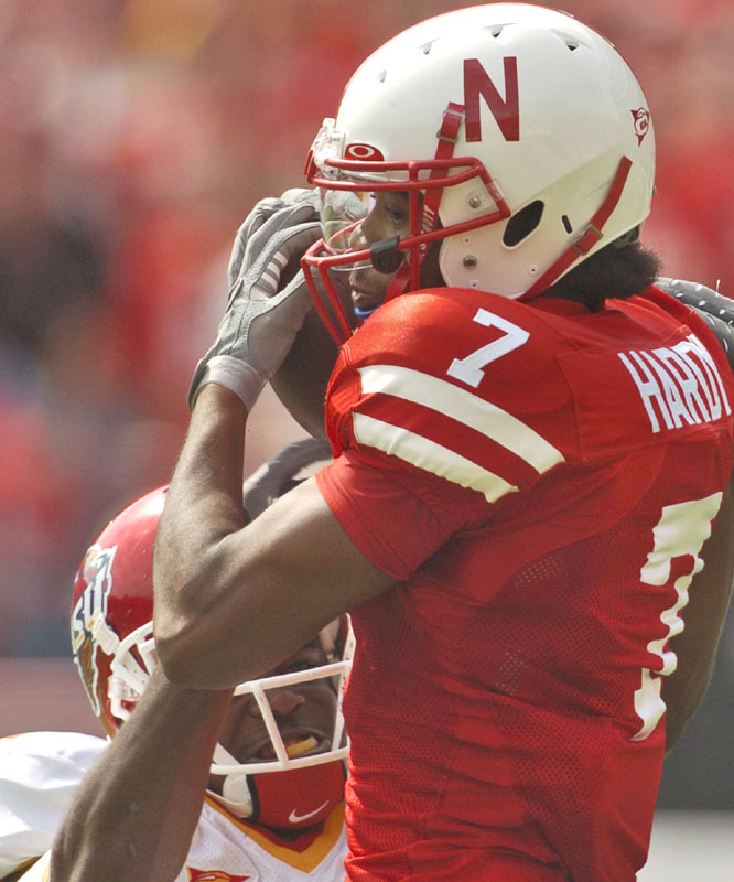 Frantz Hardy caught two balls for 74 yards as the Cornhuskers beat the Cyclones for the 15th straight time in Memorial Stadium dating back to 1977.