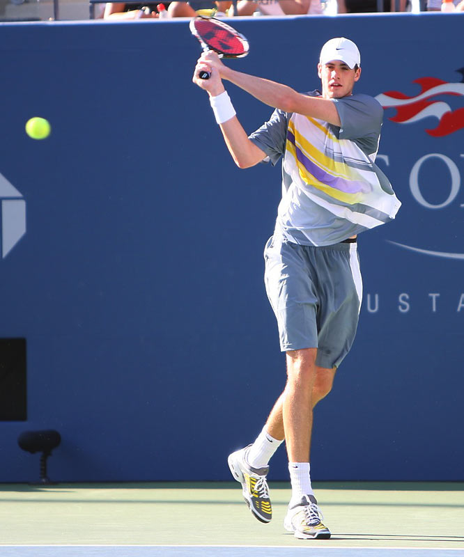 Standing at 6-foot-9 1/2, American John Isner gave the tournament some juice in the first week. He took the opening set off Roger Federer in their third round match and served notice (usually at 140 mph) that the former University of Georgia star will be a force in the future.