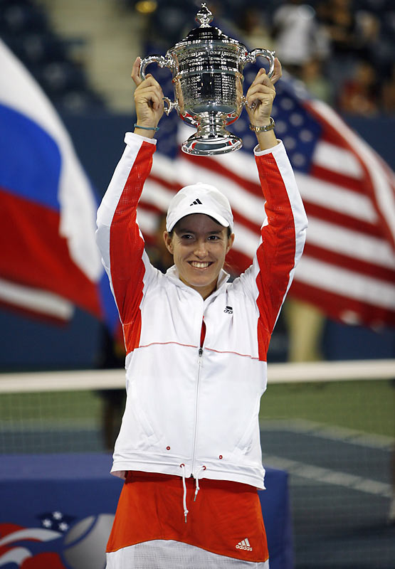Henin won her second U.S. Open on Saturday night with a 6-1, 6-3 win over Kuznetsova. In the Open era, she was the only the sixth player to win two Grand Slam titles in the same season without losing a set.