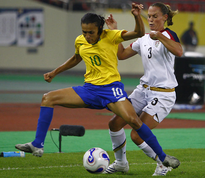 After Thursday's semifinal, Marta was the tournament's leading scorer, with seven.