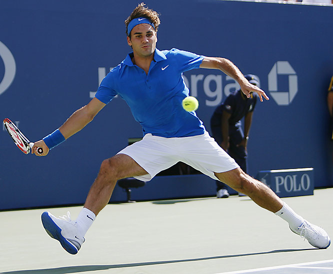 Roger Federer rallied on Saturday for a 6-7 (4), 6-2, 6-4, 6-2 triumph over John Isner to reach the fourth round.