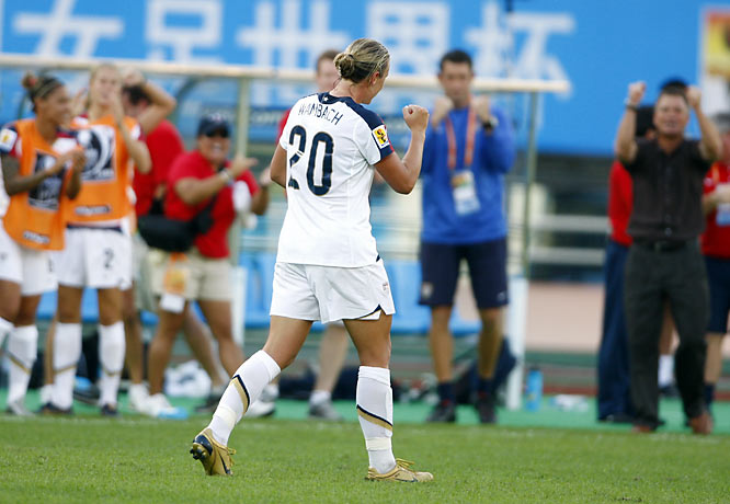 Abby Wambach was named FIFA's player of the match.